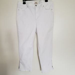 DJ Jeans plus size white ankle jeans high rise